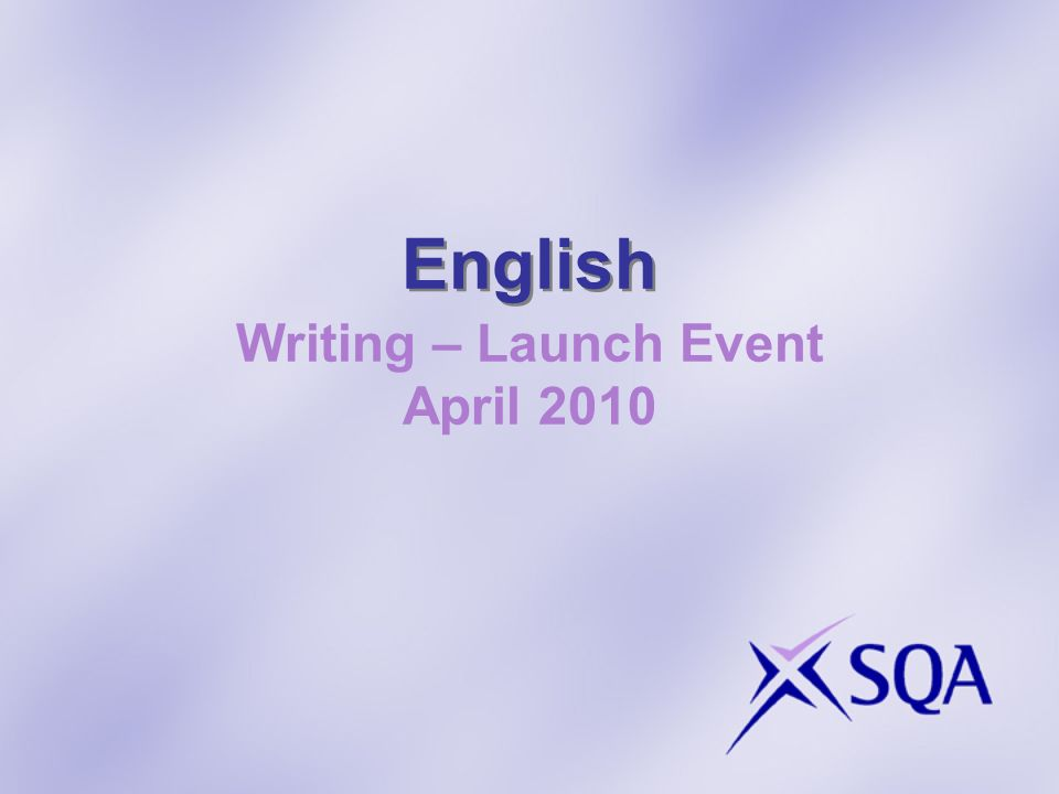 English Writing – Launch Event April 2010