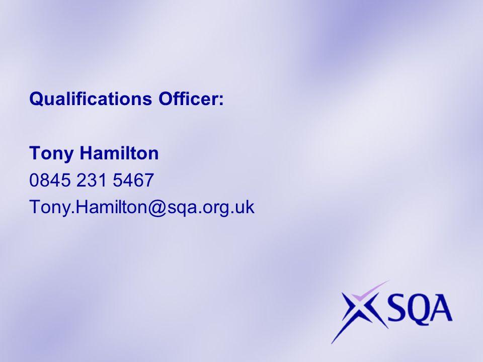 Programme Update SQA Senior Verifier Report Best Practice in Assessing and Internal Verification workshops Plenary