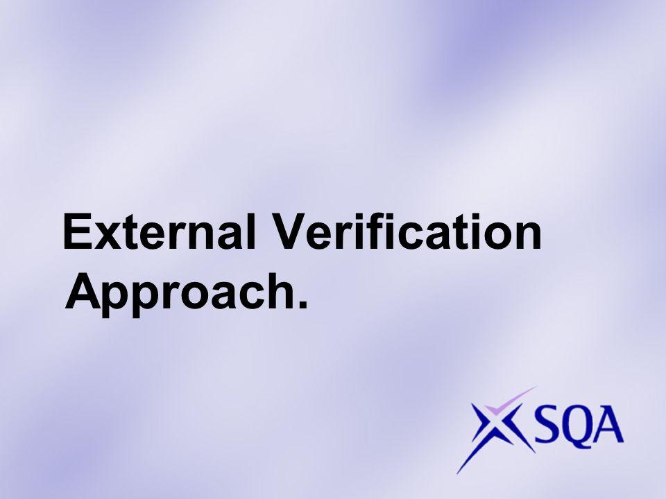 External Verification Approach.