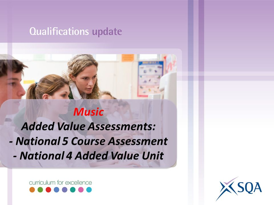 Music Added Value Assessments: - National 5 Course Assessment - National 4 Added Value Unit