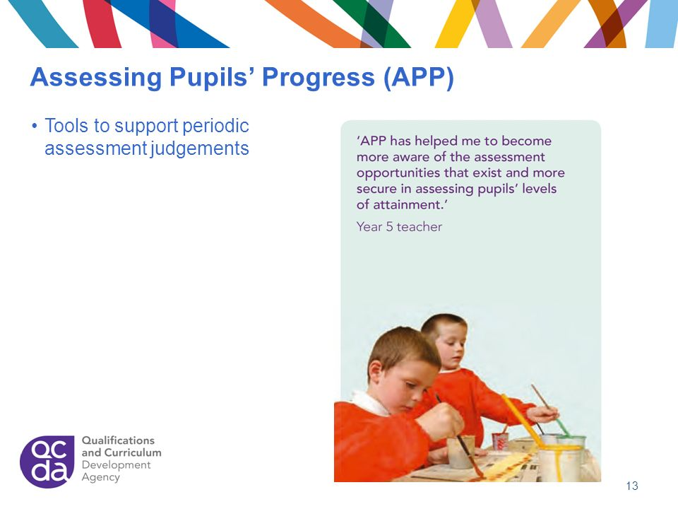 Assessing Pupils Progress (APP) 13 Tools to support periodic assessment judgements