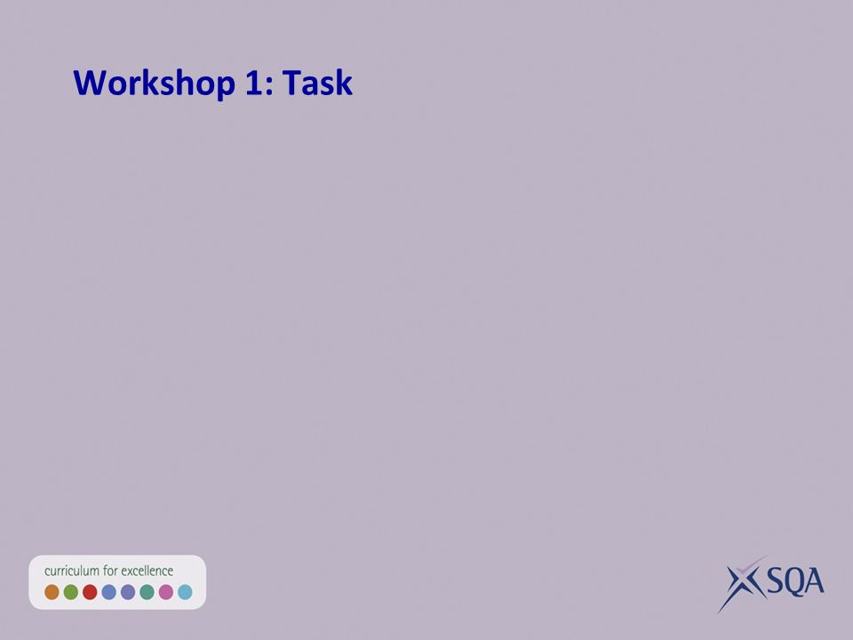 Workshop 1: Task