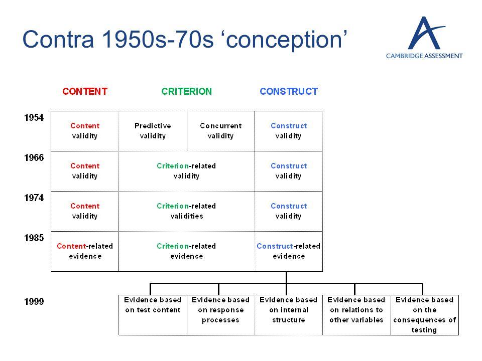 Contra 1950s-70s conception