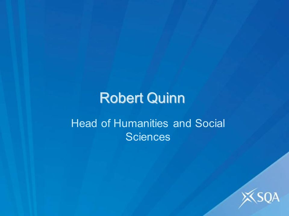 Robert Quinn Head of Humanities and Social Sciences
