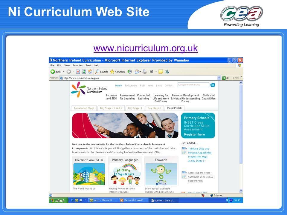 Ni Curriculum Web Site www.nicurriculum.org.uk
