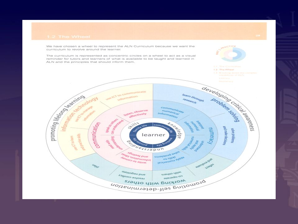 The Curriculum Framework Wheel