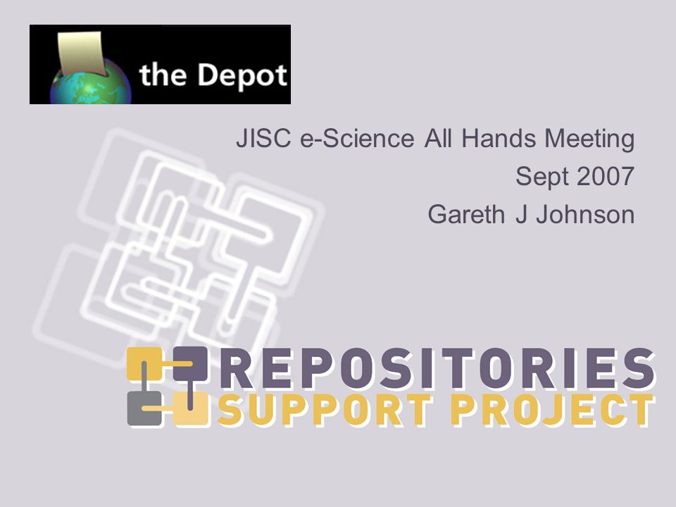 RSP Series (Part II) 2 ND OF 3 RSP talks (1) RSP & OA (2) The Depot (3) OpenDOAR & RoMEO/JULIET services Talk follows on from this morning Open Access & Institutional repositories Perceived OA benefits Funders mandates The Repositories Support Project (RSP)