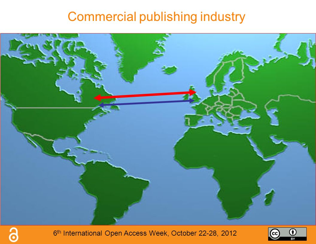 Commercial publishing industry 6 th International Open Access Week, October 22-28, 2012