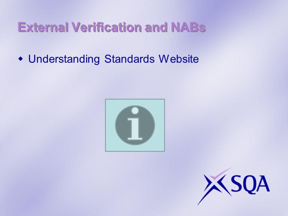 External Verification and NABs Understanding Standards Website