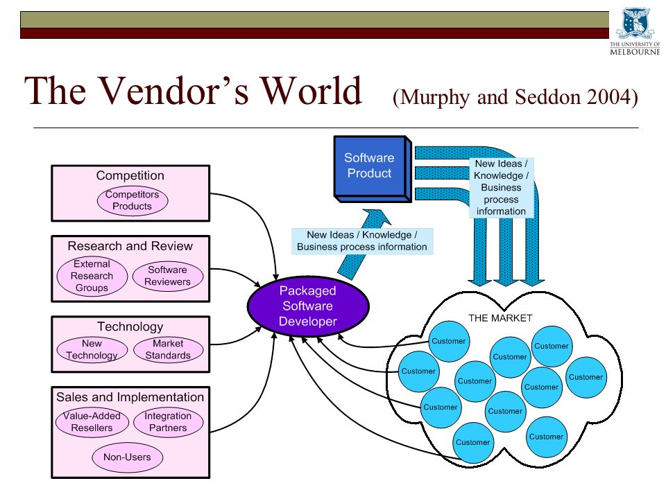 The Vendors World (Murphy and Seddon 2004)