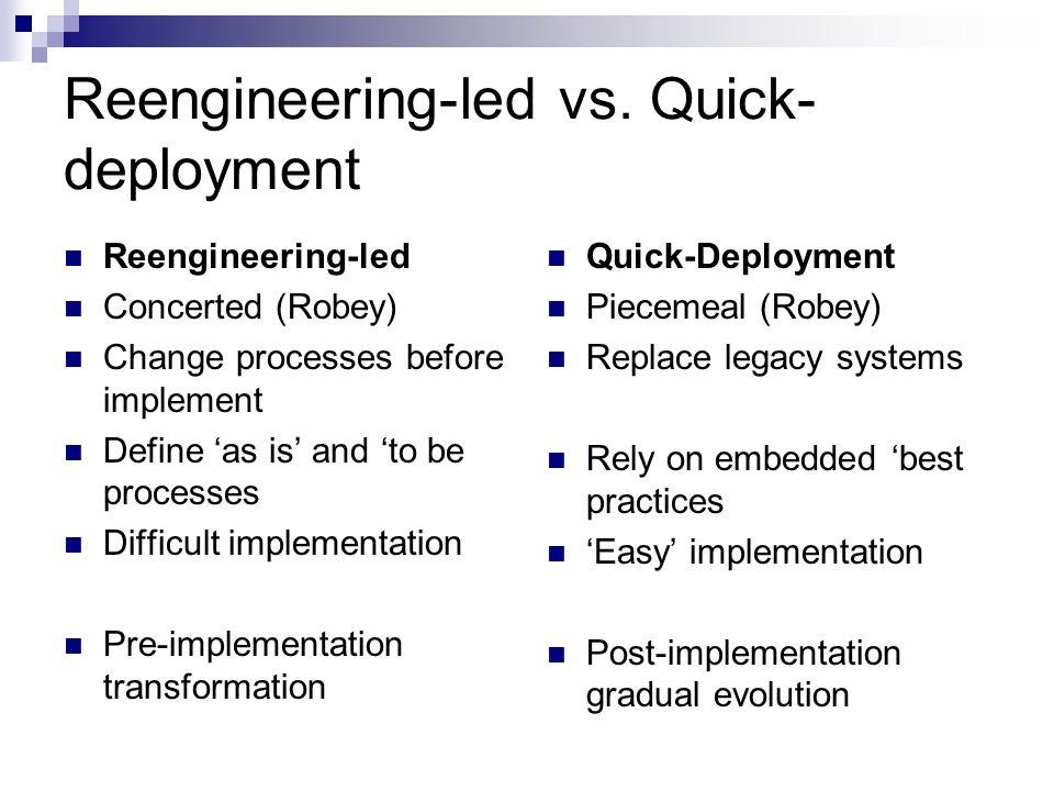 Reengineering-led vs.