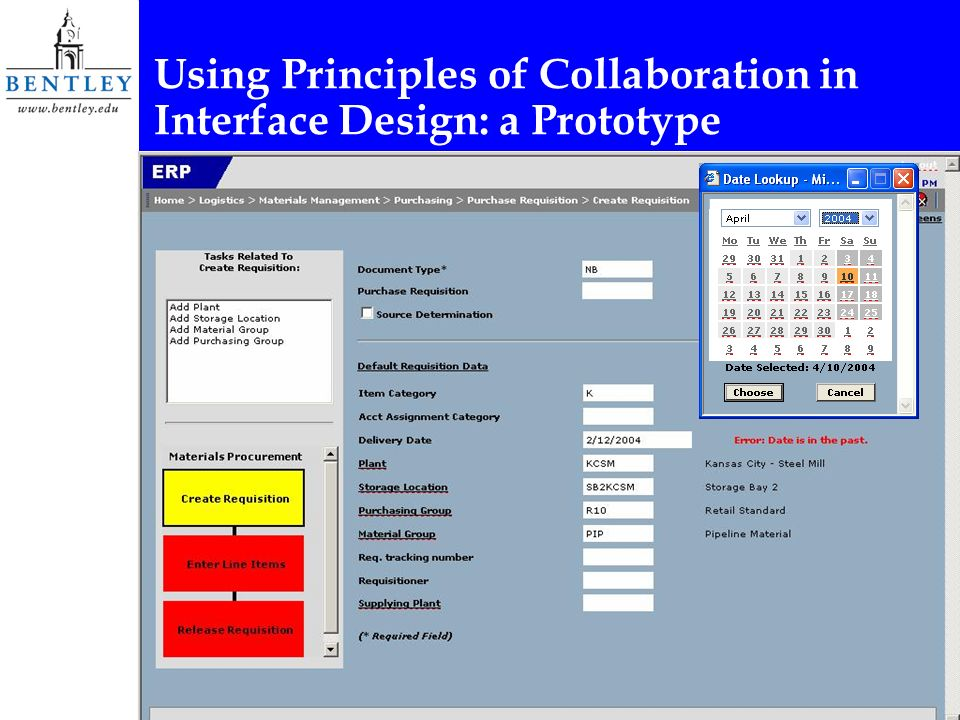 Using Principles of Collaboration in Interface Design: a Prototype