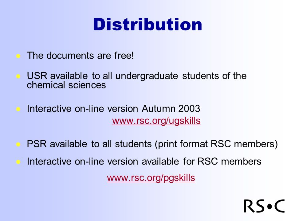 Distribution The documents are free.
