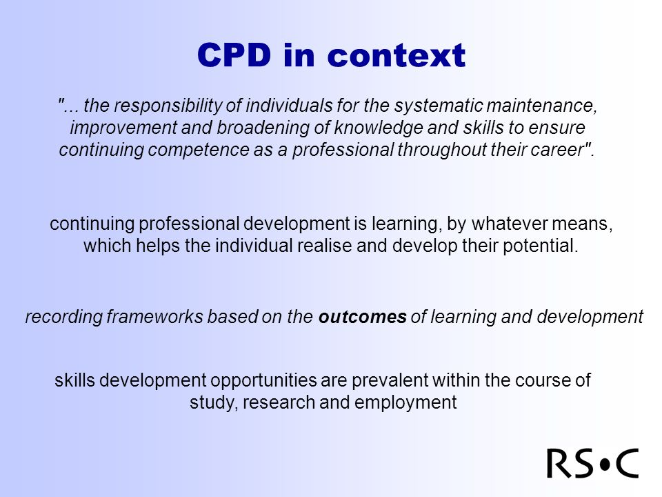 CPD in context ...