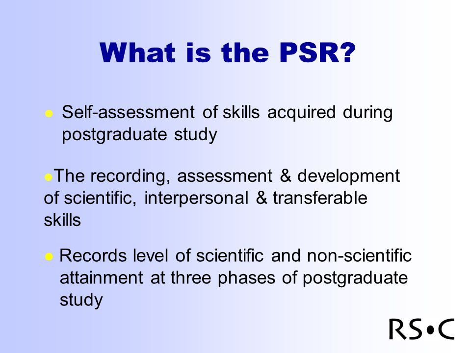 What is the PSR.