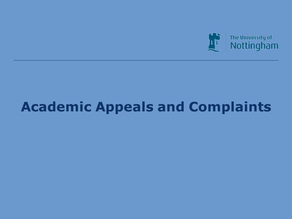 Academic Services Division Academic Appeals and Complaints