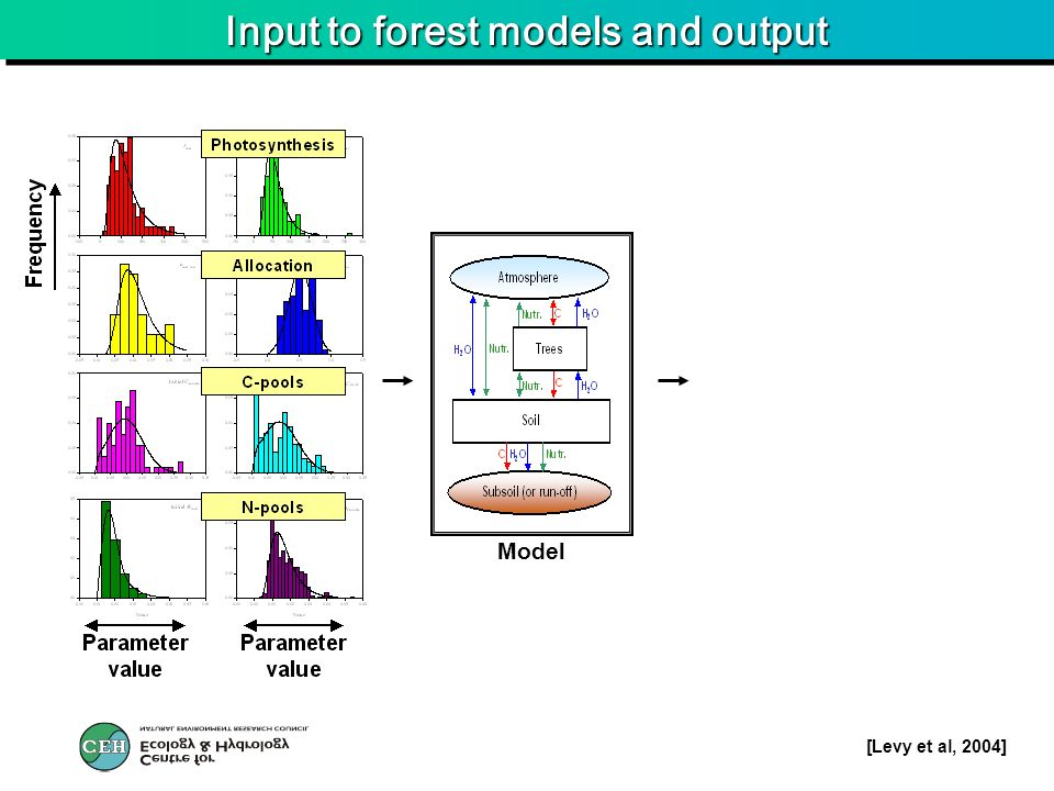 Input to forest models and output Model [Levy et al, 2004]