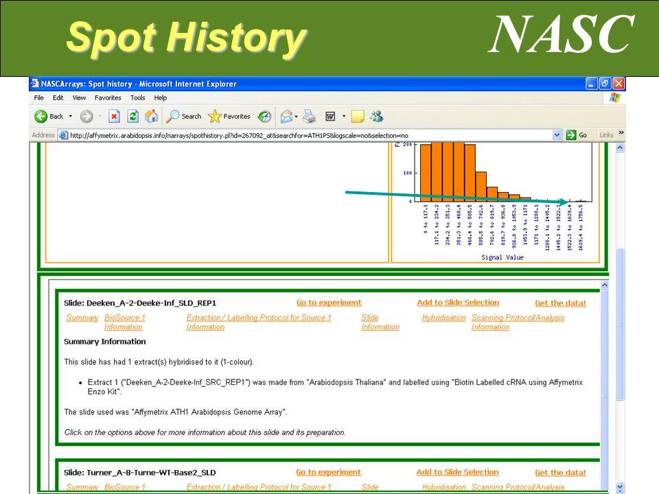 NASC Spot History