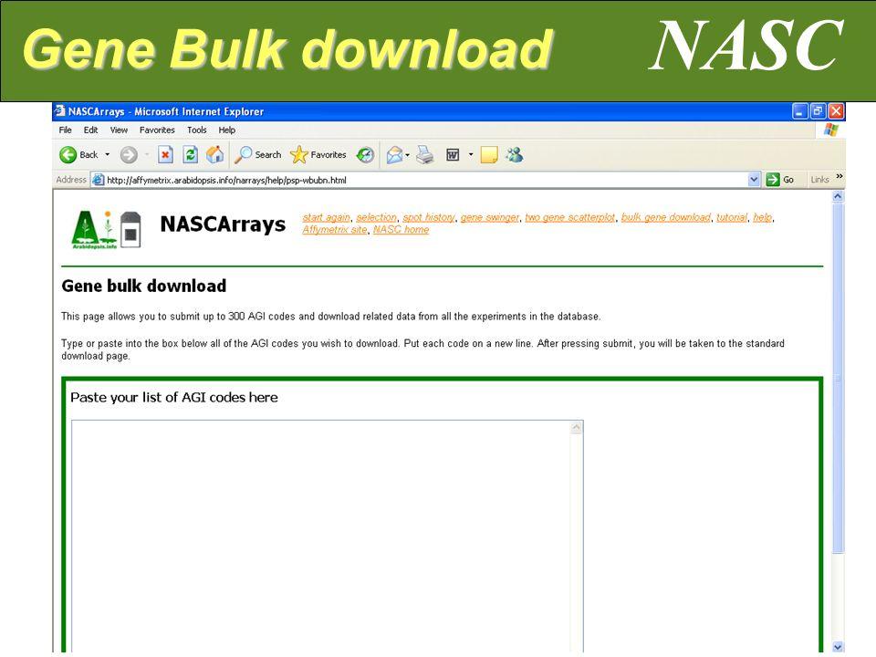 NASC Gene Bulk download