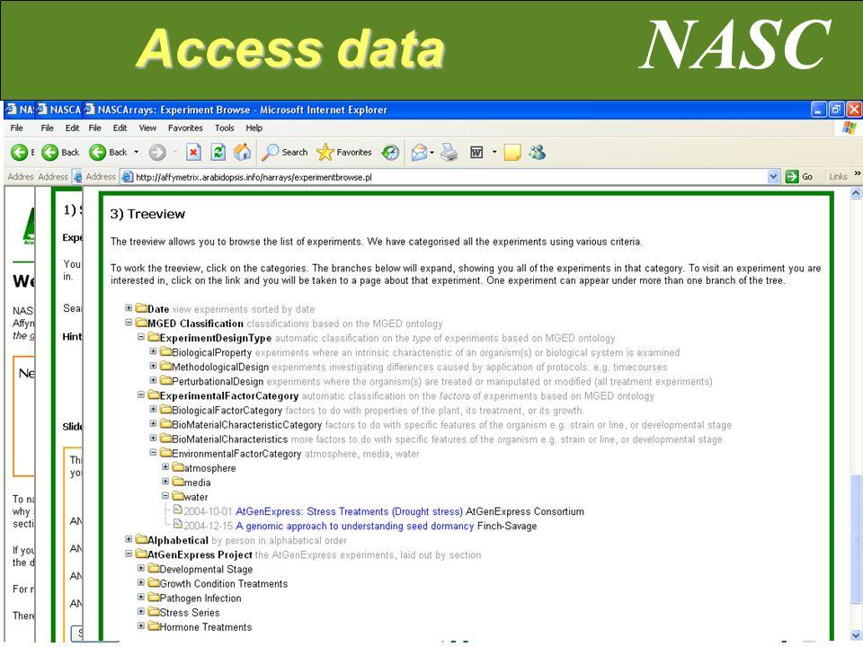 NASC Access data