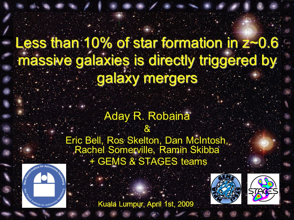 Less than 10% of star formation in z~0.6 massive galaxies is directly triggered by galaxy mergers Aday R.