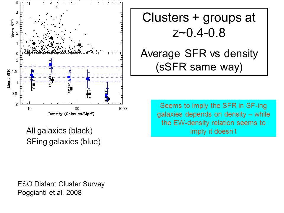 ESO Distant Cluster Survey Poggianti et al.