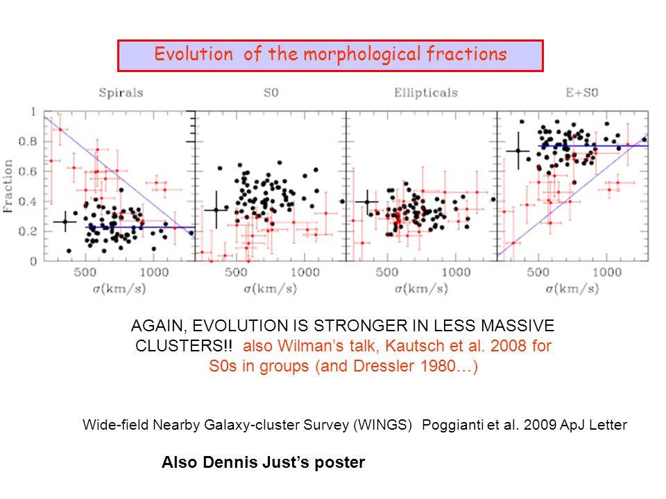 Wide-field Nearby Galaxy-cluster Survey (WINGS) Poggianti et al.