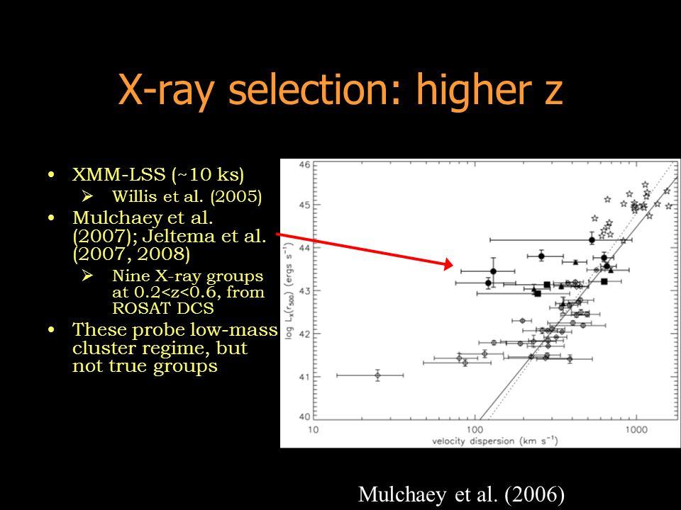 X-ray selection: higher z XMM-LSS (~10 ks) Willis et al.