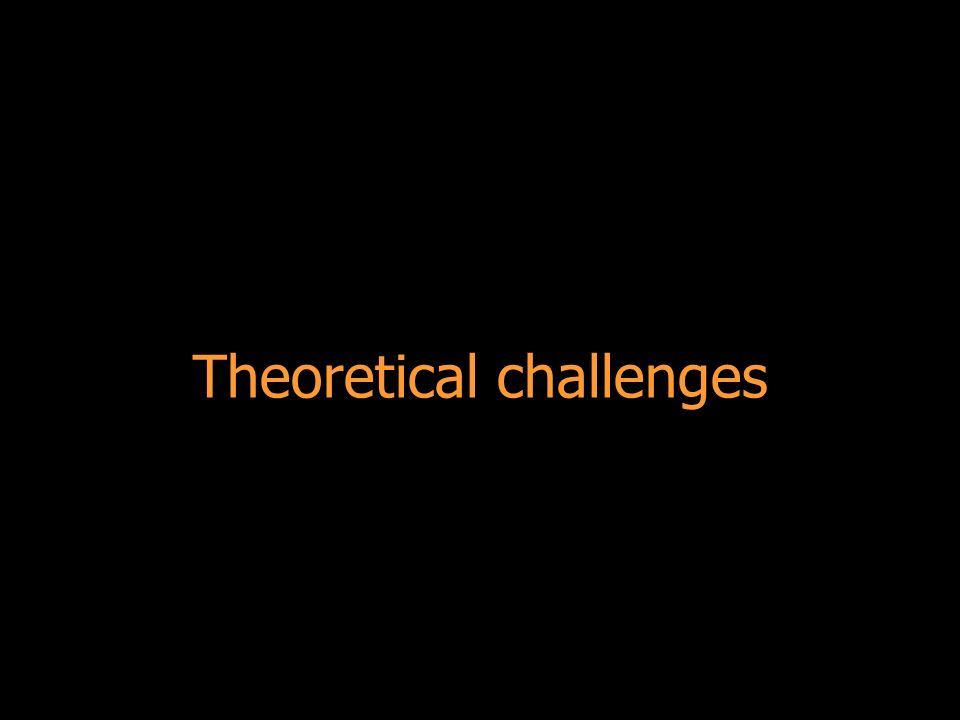 Theoretical challenges