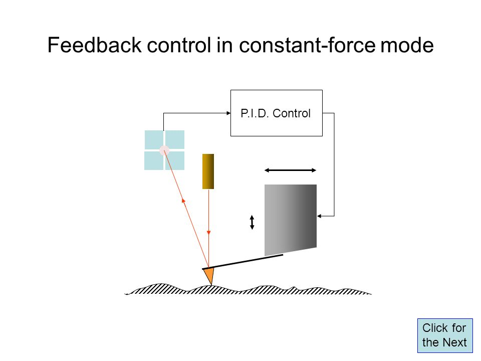 Feedback control in constant-force mode P.I.D. Control Click for the Next