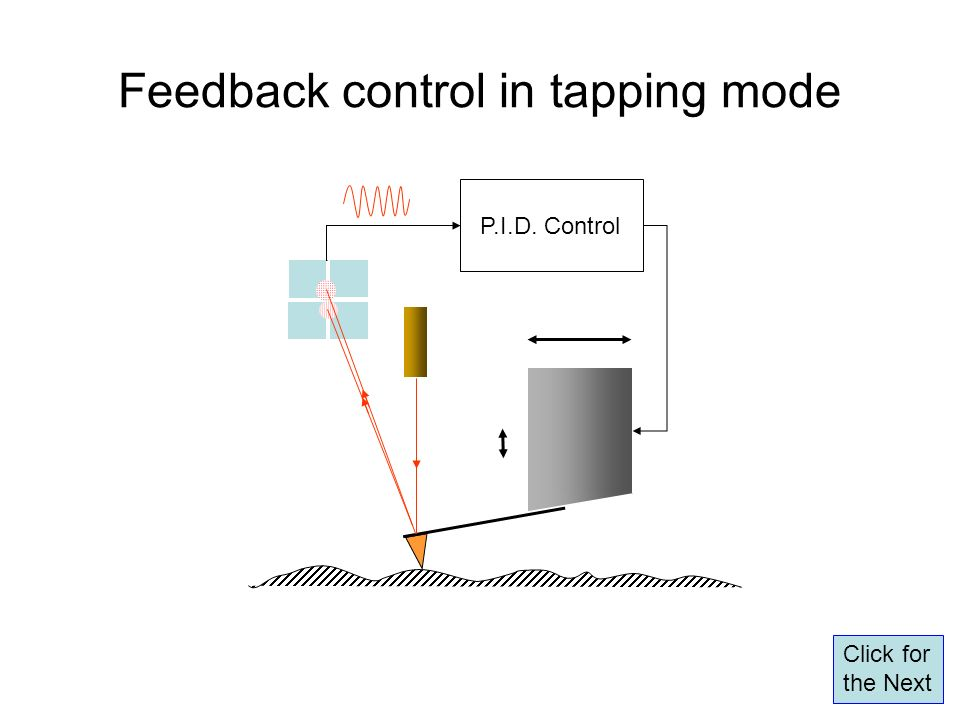 Feedback control in tapping mode P.I.D. Control Click for the Next