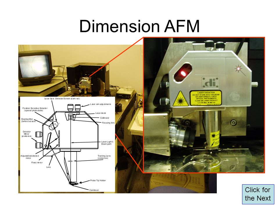 Dimension AFM Click for the Next