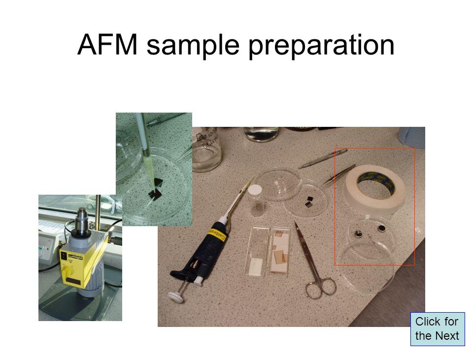 AFM sample preparation Click for the Next