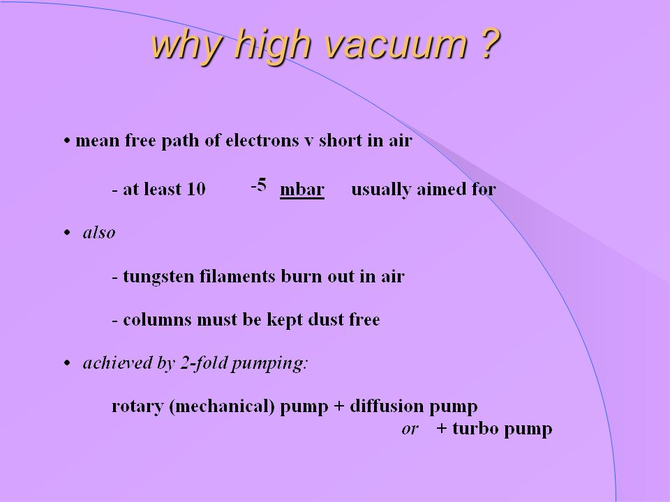 why high vacuum