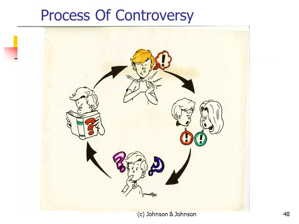 (c) Johnson & Johnson48 Process Of Controversy