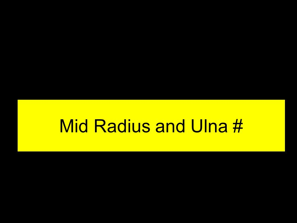 Mid Radius and Ulna #