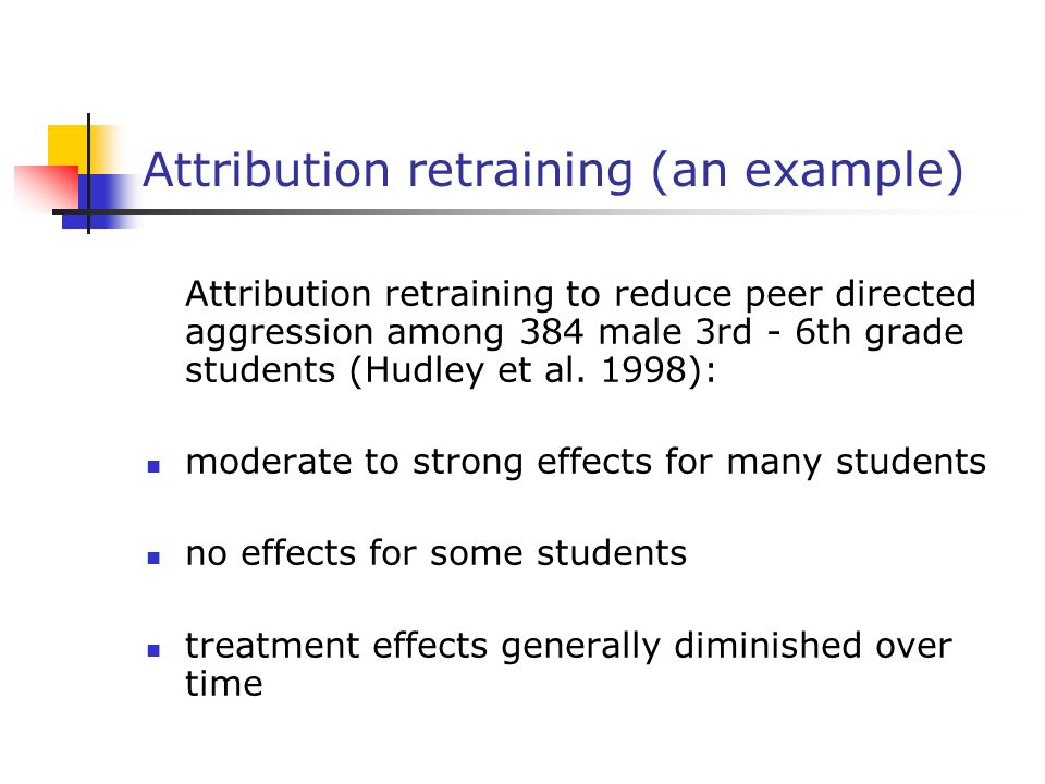 Attribution retraining usually an attempt to help somebody move away from external and uncontrollable attributions and towards internal and controllab