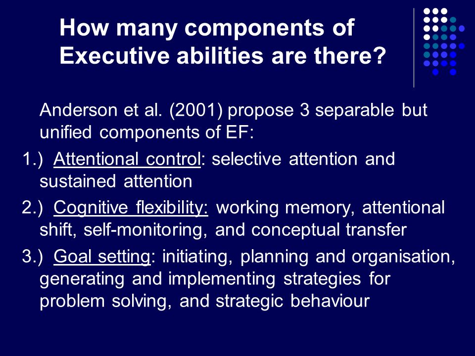 What is Executive Dysfunction (dysexecutive syndrome).