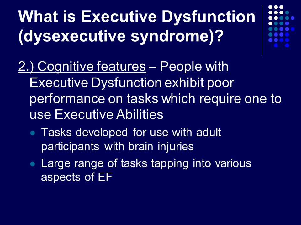 How does executive function relate to IQ.