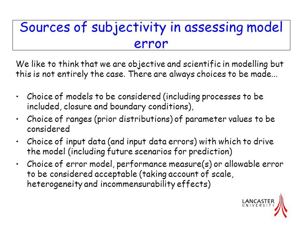 Results – Model Structural Error.