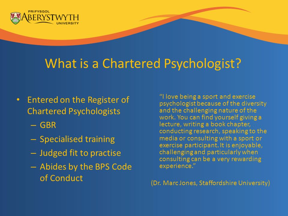 What is a Chartered Psychologist.