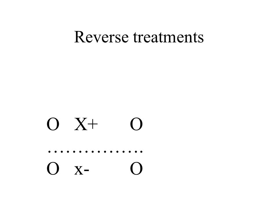 Reverse treatments OX+O ……………. Ox-O