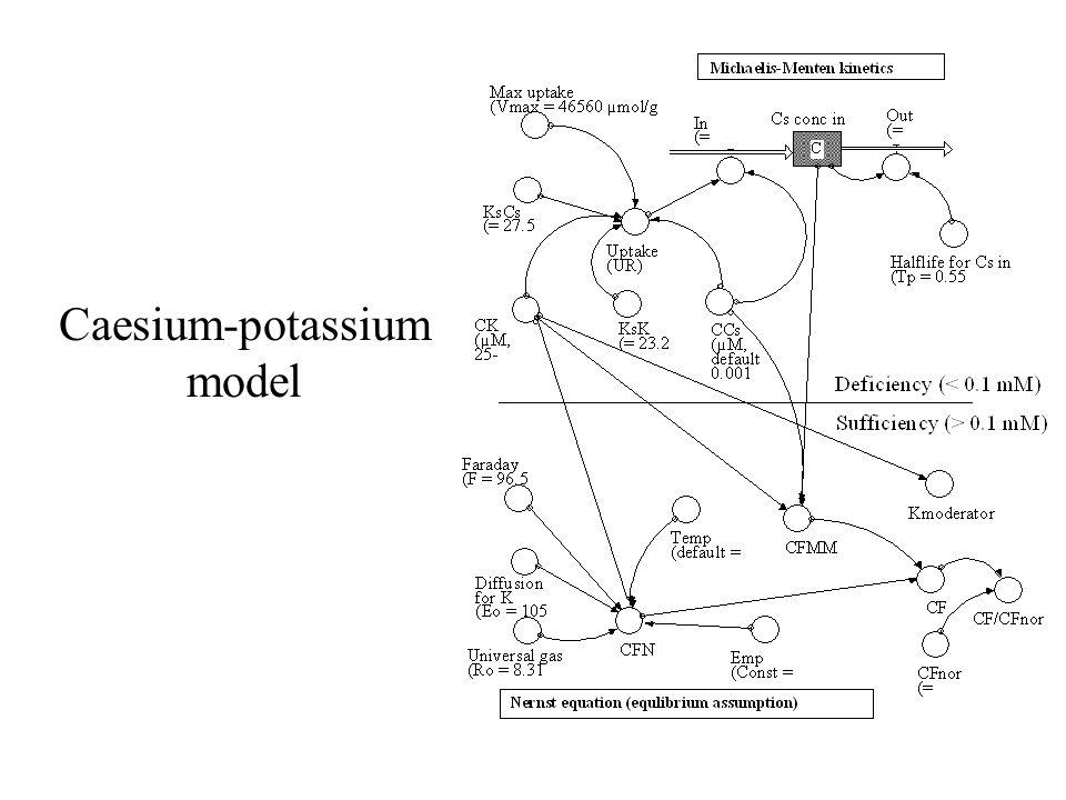 Caesium-potassium model