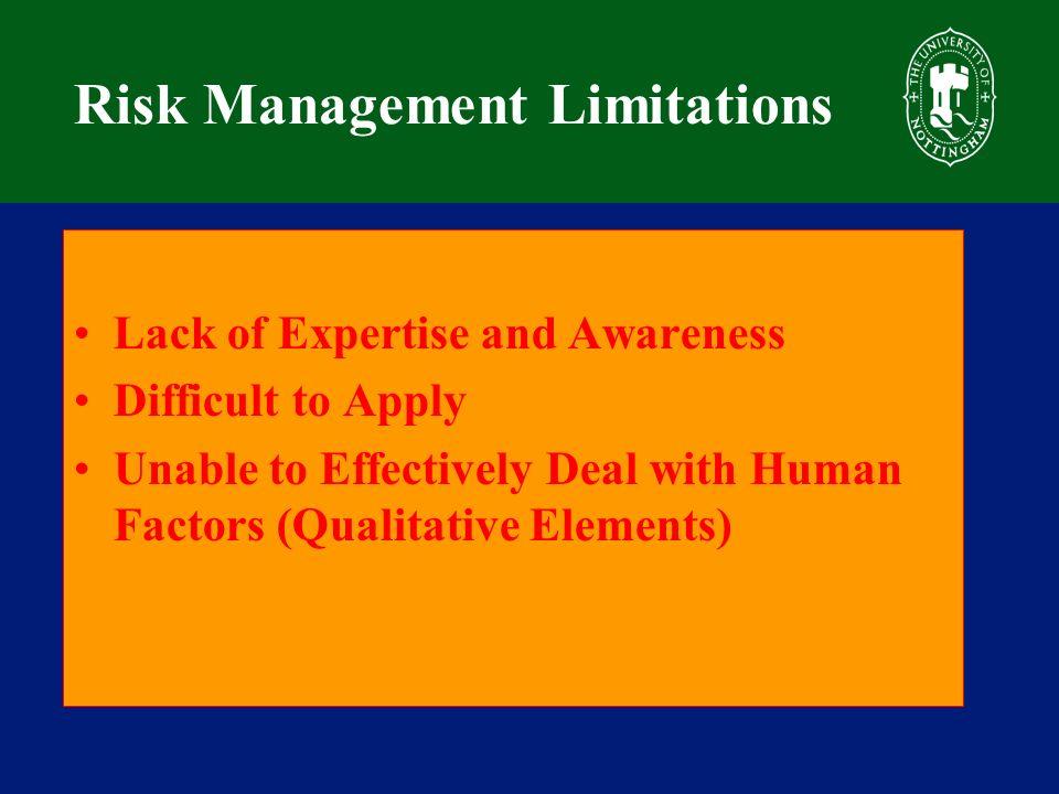 Human Risks Identification 197 Human Risk Factors were identified.