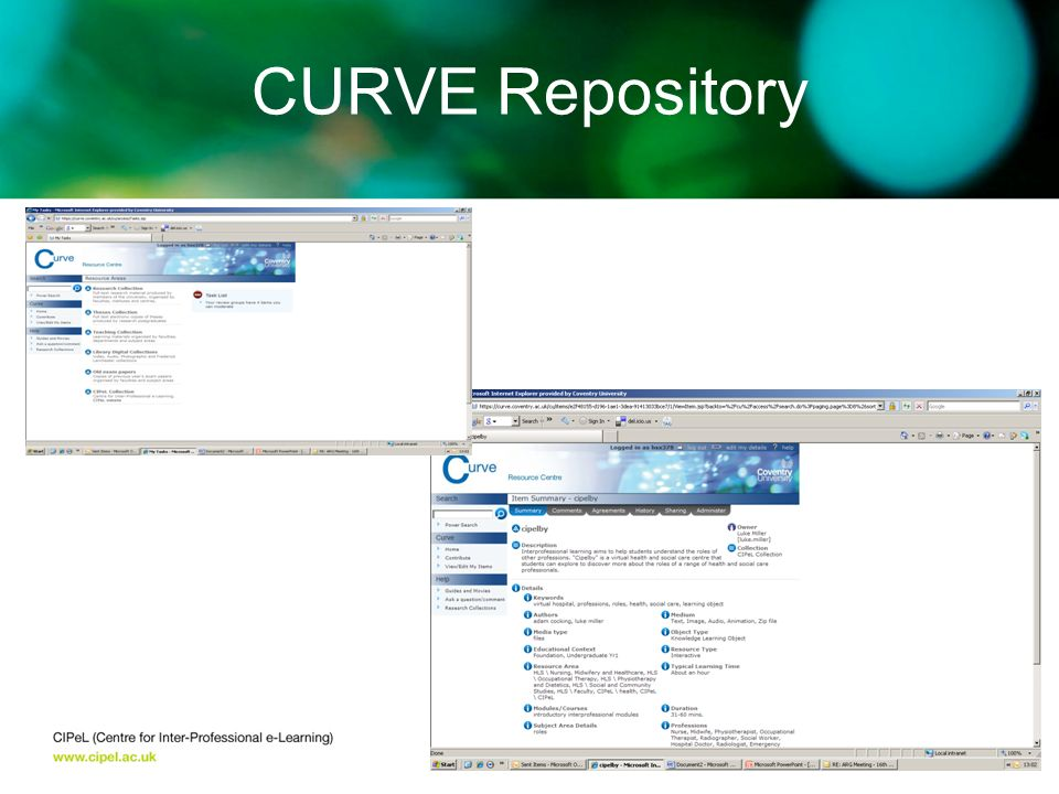CURVE Repository