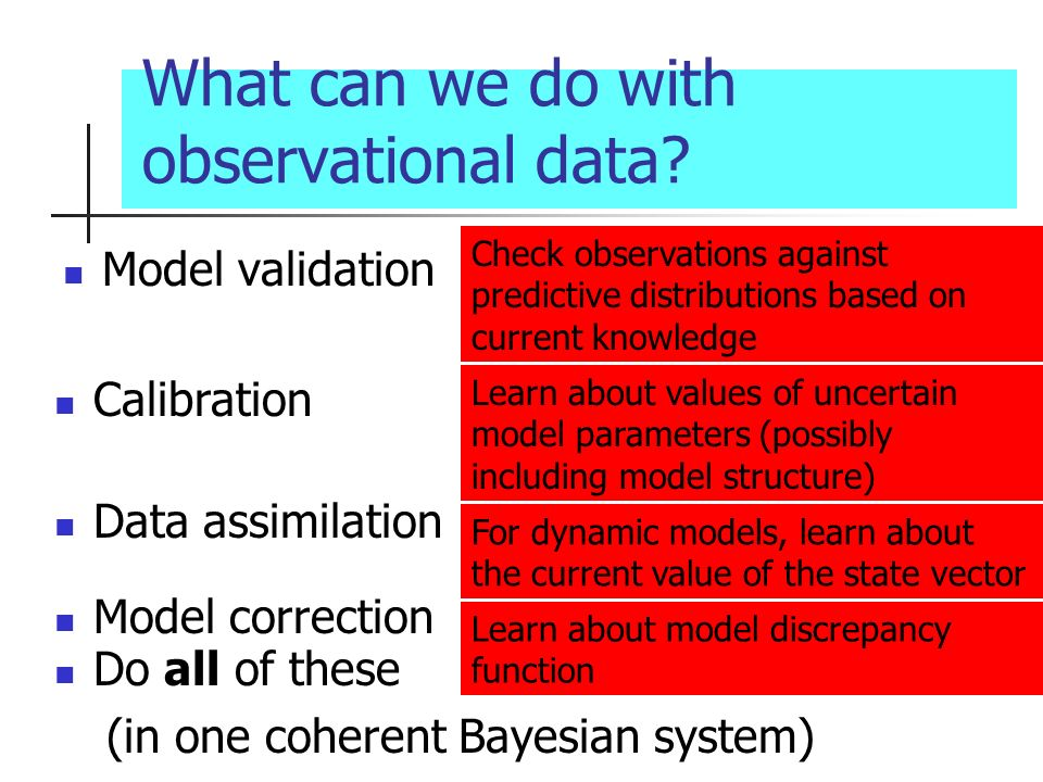What can we do with observational data.