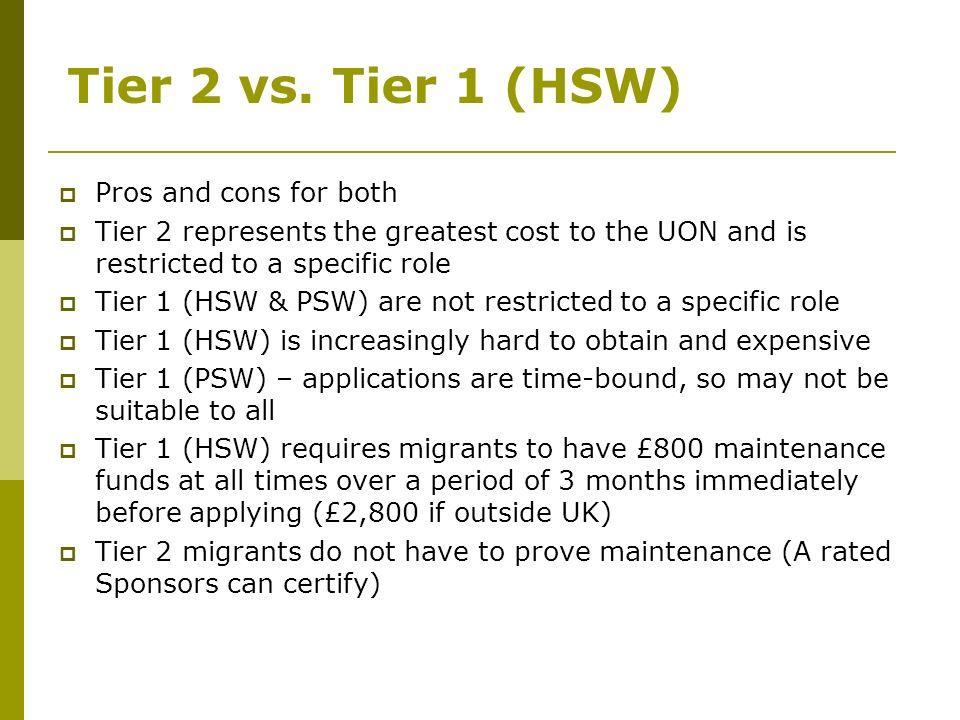 Tier 2 vs.