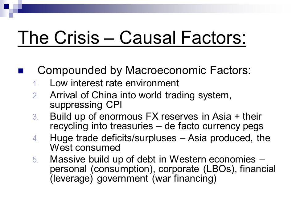 The Crisis – Causal Factors: Compounded by Macroeconomic Factors: 1.