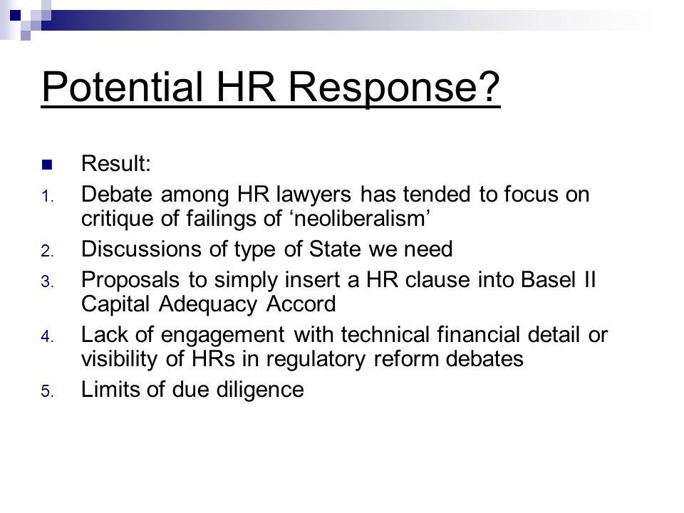 Potential HR Response. Result: 1.