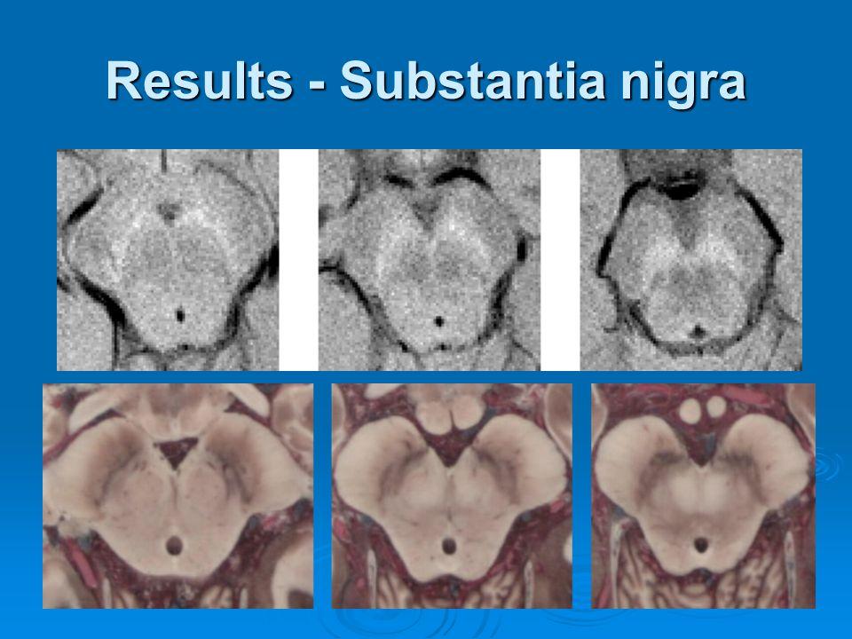 Results - Substantia nigra